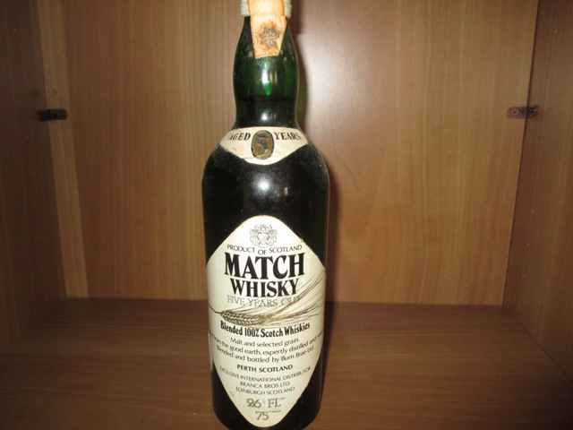 Match Whisky Old bottle